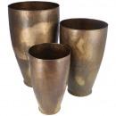 wholesale Flowerpots & Vases: Metal vase Moby, set of 3, H57cm / 48cm / 39cm, go